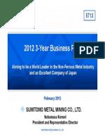 Sumitomo Metal Mining Apresentacao