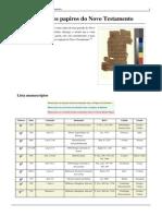 V) Anexo - Lista Dos Papiros Do Novo Testamento (II)
