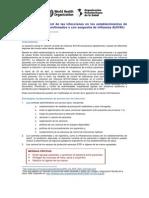 Prevención y control de las infecciones en los establecimientos de salud para casos confirmados o con sospecha de influenza A(H1N1)