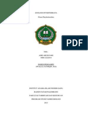 laporan praktikum platyhelminthes planaria)