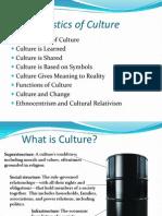 (2) Contd Characteristics of Culture