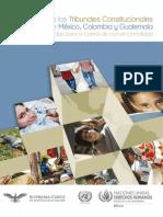 Control de Convencionalidad, Tendencias_TribunalesConst_Mex-Col-Guatemala
