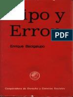 01. Tipo y Error - Bacigalupo, Enrique