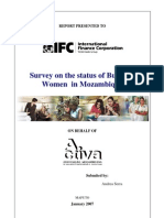 Survey on the Status of Business Women in Mozambique (January 2007)