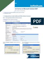 Configuracion de Correo en Outlook 2007
