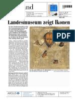 Zeitung Liechtensteiner Vaterland 23-11-2013 Ankündigung Wemhöner Grabher Sammlung Liechtensteinisches Landesmuseum 2013