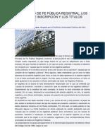 EL PRINCIPIO DE FE PÚBLICA REGISTRAL