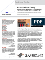 Access  La Porte County Success Story