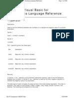 Microsoft Office VBA Language Reference