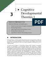 Topic 3 Cognitive Developmental Theories 1
