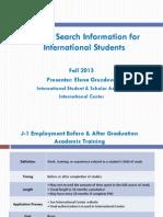 U.S. Job Search for Intl Students - International Center Slides