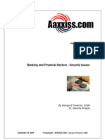Banking Sector Security FINAL 09182009