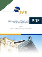Reglamento Interno de Orden Higiene y Seguridad de EFE