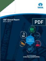 TATA Steel Annual Report 2012 13