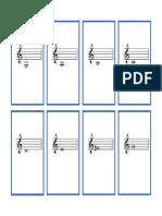 Complete Set Violin Flash Cards Blue Borders