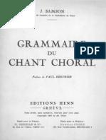 Grammaire du Chante Choral