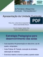 Apresentação da disciplina  - Farmacotécnica I - 2sem2009