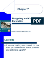 Budgeting & Cost Estimation