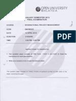 EMCM5203 Exam April 2012