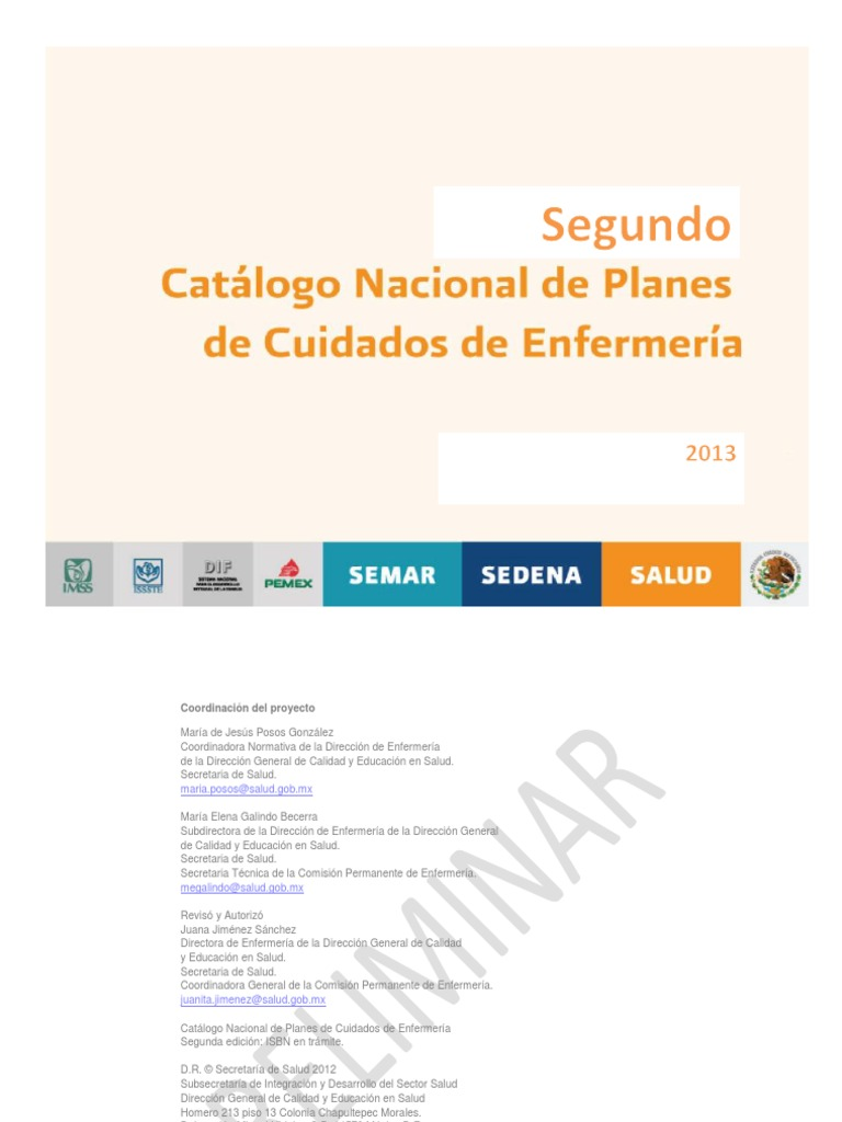 2° Catalogo Nacional de Planes de Cuidado de Enfermería