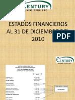 Estados Financieros Al 31 de Diciembre Del 2010