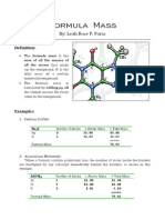 paras - formula mass
