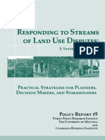 Responding to Streams of Land Use Disputes