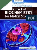 DM Vasudevan - Textbook of Biochemistry for Medical Students, 6th Edition