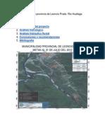 Estudio hidrológico provincia de Leoncio Prado