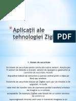 Aplicaţii ale tehnologiei ZigBee