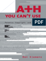 Math You Can't Use - Patents, Copyright, And Software - B. Klemens (2006) BBS