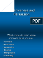Assertiveness and Persuasion[1]