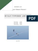 Human Powered Aircraft Report