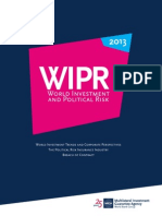 World Investment and Political Risk (WIPR) 2013 report