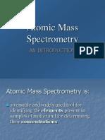 Atomic Mass Spectroscopy