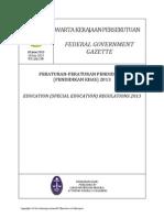 Peraturan Pendidikan Khas 2013