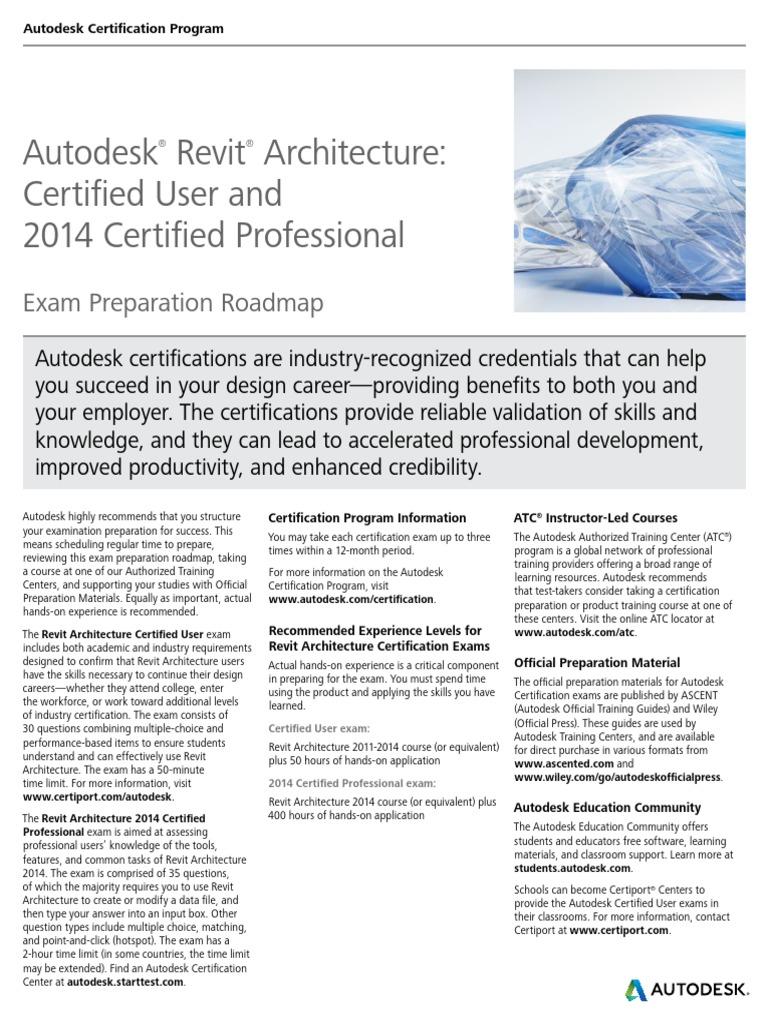 Autodesk Revit Architecture 2014 Certification Autodesk Revit