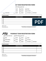 Cpj Poomsae Team Reg Form 2014
