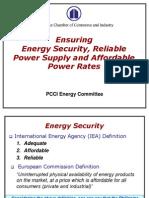 PCCI Energy Committee - TWG on Power