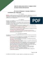 COMPORTAMIENTO ORGANIZATIVO Y DIRECCIÓN DE RECURSOS HUMANOS