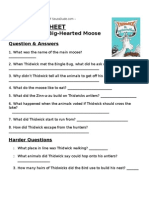 Thidwick The Big Hearted Moose Lesson Plan - Dr. Seuss