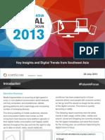 2013 Southeast Asia Digital Future in Focus ComScore