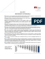 Incidenti Stradali in Italia - 31_ott_2012 - Testo Integrale - ISTAT