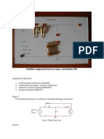 Circuite RC --- Comportarea in Frecventa