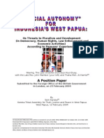 Special Autonomy for Indonesia's West Papua