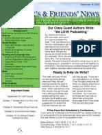 Newsletter 9-18
