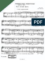 Myaskovsky Op.78 Polyphonic Sketches 6 Fugues