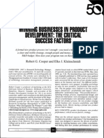Winning Businesses in Product Development