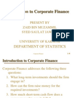 Introduction to Corporate Finanace
