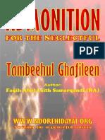 Tambihul Ghaafileen Admonitionfor the Neglectful